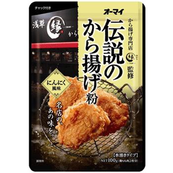 日本制粉  传说的炸鸡粉 浅草名店 大蒜风味100g*5包