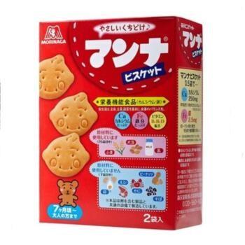 森永  高钙高铁牛奶营养饼干 适合7个月以上86g×5盒