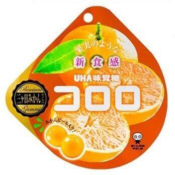 悠哈UHA 100%橙味果汁包裹软糖40g×6個