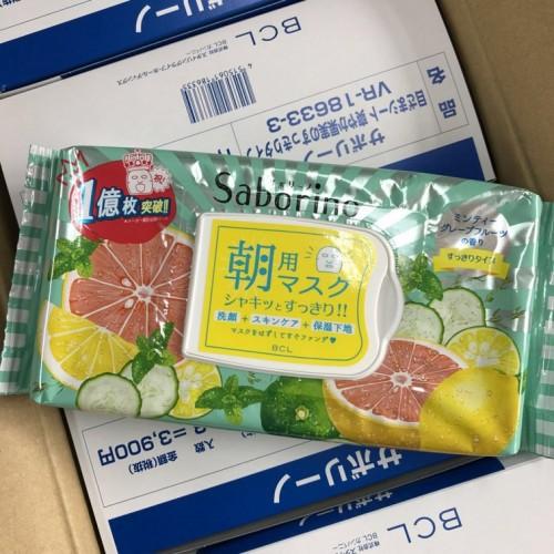 Saborino 目ざまシート 爽やか果実のすっきりタイプ 32枚入 柚子